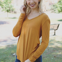 Feel Good Top - Mustard