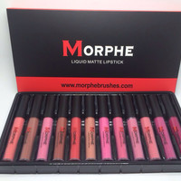 Hot Sale Beauty On Sale Stylish Make-up Hot Deal Professional 12-pcs Lip Gloss Set Make-up Palette [11405535439]