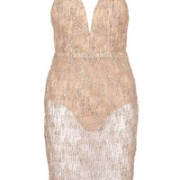 Rachel Sparkle Glitter Midi Dress | Boohoo