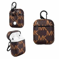 MICHAEL KORS  AIRPODS CASE - BROWN