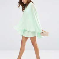 ASOS Soft Chiffon Cape Mini Dress