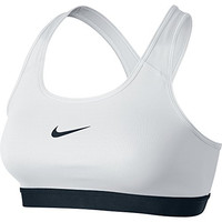 Nike Womens Pro Classic Sports Bra White/Black 650831-100 Size Medium