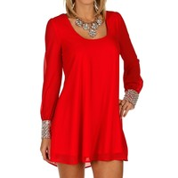 Sale-red Heiress Tunic