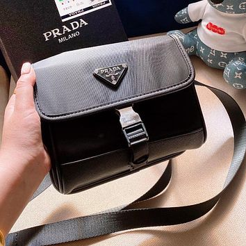 PRADA High Quality Women Men Canvas Crossbody Satchel Shoulder Bag Mobile Phone Package Chest Bag Waist Bag