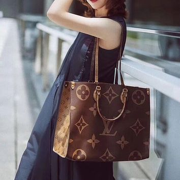 Louis Vuitton LV Women Fashion Leather Tote Shoulder Bag Satchel