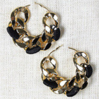 Oversized Curb Link Hoop Earrings