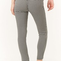 Skinny Houndstooth Trousers