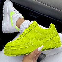Nike Air Force 1 AF1 Flat Shoes Sports Sneakers Fluorescent green