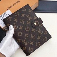 Louis Vuitton LV Fashion New Monogram Check Print Women Men Notebook Book