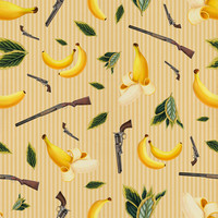 Removable Wallpaper - Wild West Gone Bananas