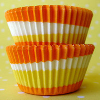 Mini Orange Swirl Baking Cups