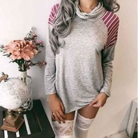 Simple Design Casual Cotton Sweatershirt [33476050959]