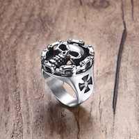 Punk 22cm Stainless Steel Party Cocktail Ring For Men Rc-296