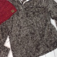 Cold Snap Sherpa Pullover - Brown