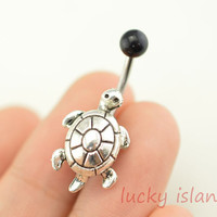 belly button jewelry, turtle belly button rings,fabulous tortoise navel ring,piercing belly ring,friendship gift