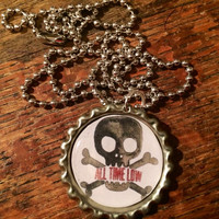 All Time Low band logo bottlecap necklace