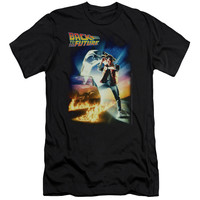 BACK TO THE FUTURE/POSTER - S/S ADULT 30/1 - BLACK - 2X - BLACK -
