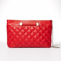 Trouve Convertible Leather Clutch