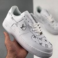 Nike Air Force 1 x LV low-top all-match casual sneakers shoes