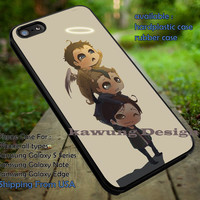 Winchester Boys with Castiel Cute Drawing iPhone 6s 6 6s+ 5c 5s Cases Samsung Galaxy s5 s6 Edge+ NOTE 5 4 3 #movie #supernatural #superwholock #sherlock #doctorWho dt