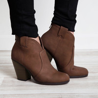 Courtney Booties - Mocha