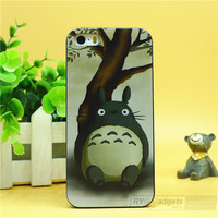 New  Fashion rubber cute Cartoon Animals Totoro Protective Hard Plastic case cover For Iphone 4 4g 4s/5 5g 5s/5c 6 6 Plus