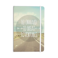 """Jillian Audrey """"Go Onward to Great Adventures"""" Typography Everything Notebook"""