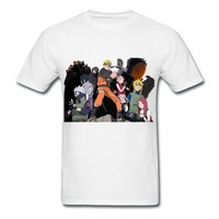 Make Your Own Naruto Road To White Adult Standard Weight T-shirt For Men Supply-Funny Clothing  HICustom
