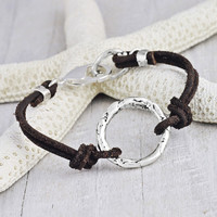 Circle of Life Bracelet | Handcrafted Leather Bracelet