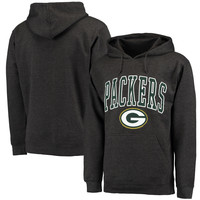 Men's Green Bay Packers Charcoal Classic Wordmark Logo Pullover Hoodie