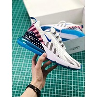 Parra x NIKE Air Max 270 White Blue Sport Running Shoes