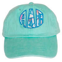 Alpha Delta Pi Lilly Let's Cha Cha Monogrammed Mint Hat