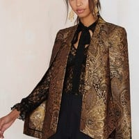 Nasty Gal Go for Baroque Cape Blazer