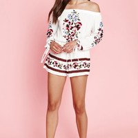 Kendall & Kylie Long Sleeve Off-The-Shoulder Romper at PacSun.com