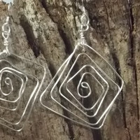 Fashion Wire Earrings with a Twist by trevor4995 on Etsy