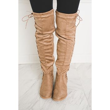 Brodie OTK Boots (Taupe) FINAL SALE