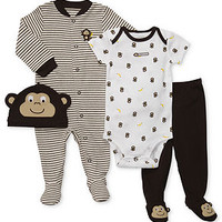Carter's Baby Set, Baby Boys Four-Piece Hat, Coverall, Bodysuit and Pants - Kids Baby Boy (0-24 months) - Macy's