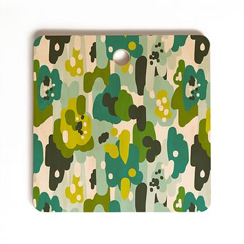 Heather Dutton Painted Camo Cutting Board Square