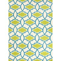 Turkish Tiles Green Blue Outdoor Rug