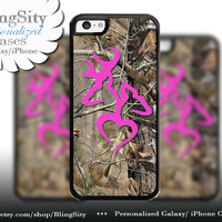 Pink Deer iPhone 5C 6 6 Plus Case Browning Love Heart Buck Doe iPhone 5s iPhone 4 case Ipod 4 5 case Camo Personalized Country Inspired Girl