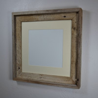 12x12 wood picture frame with mat for 8x8 or 10x110