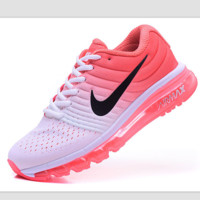 """NIKE"" Trending Fashion Casual Sports Shoes AirMax section Pink White"