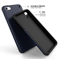 Luxury Elegent High Quality Carbon Fiber Soft Case For iPhone 5 5S SE Leather Skin 3D Texture Tire Defender Cover For iPhone SE -004-05-Girllove100