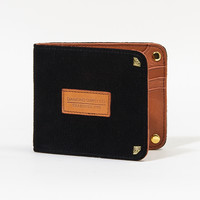 Suede Lizard Bi-Fold Wallet in Black