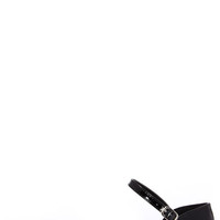 Patent Pending Black Patent Pointed Ankle Strap Flats