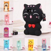 3D Cartoon Soft Silicone Back Cover Case for Samsung Galaxy S8 Plus S6 S7 Edge S5 A3 A5 A7 J1 J2 J3 J5 J7 2016 Grand Prime Cases