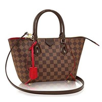 Authentic Louis Vuitton Damier Caissa Tote PM Handbag Article:N41551 Cherry Made in France-1