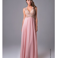 Nina Canacci 7400 Sexy Blush Pink Cut Out Dress 2015 Prom Dresses