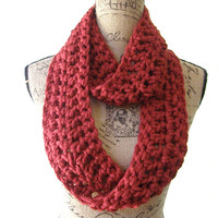 Ready To Ship New Cranberry Dark Red Cowl Scarf Women Fall Winter Accessory 168