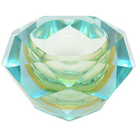 Faceted Murano Glass Bowl